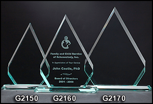 G2150 Diamond Shaped Glass Award