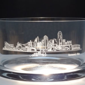 Cincinnati Scene Crystal Bowl