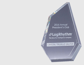 crystal glass award with engraving that has been customized