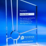 Interchange Crystal Award with Intersecting Cuts #1188