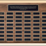 Perpetual Plaque with Extra Large Individual Plates P3935 1