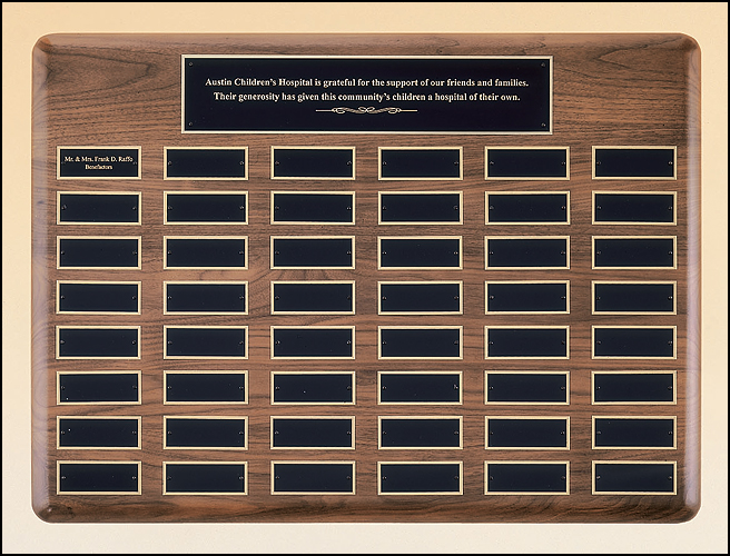 Perpetual Plaque With Extra Large Individual Plates P3935