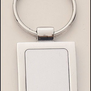 PK14 Square Shaped Silver Keyring with Engraveable Insert