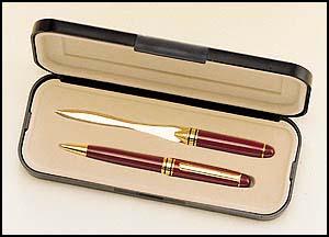 PKC6100BK Euro Pen and Letter Opener Set