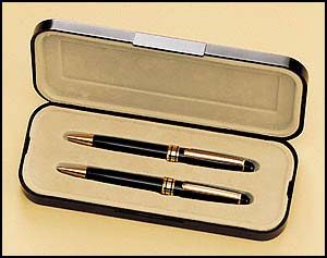 PKC6375BK Black Euro Pen and Pencil Set