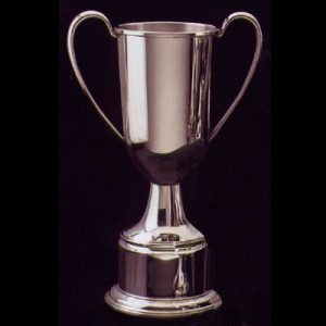 sterling silver or pewter trophy for engraving