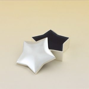 112 Star Shaped Silver Plated Keepsake Box