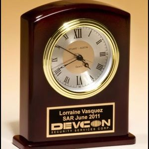 BC970 High Gloss Rosewood Finish Desk Clock