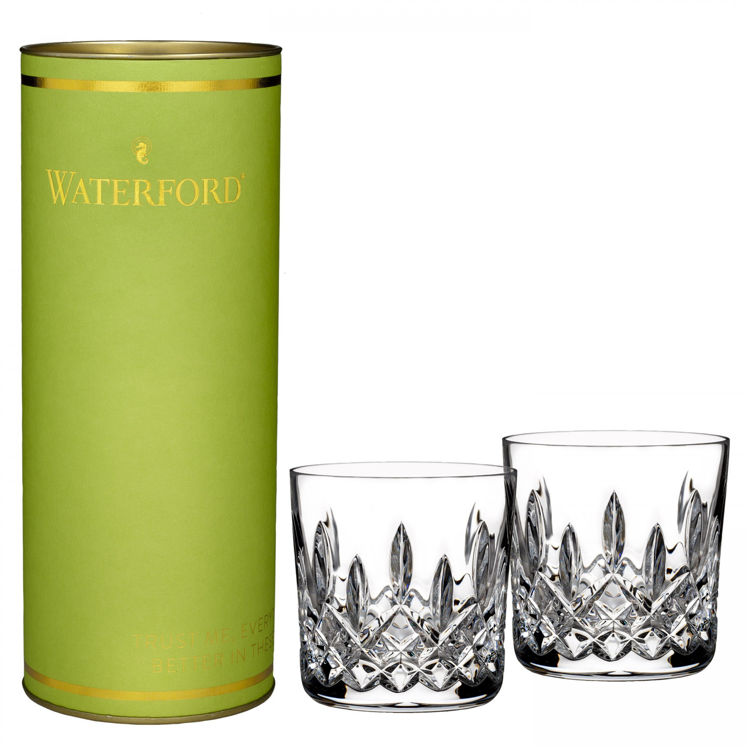 Waterford Giftology Lismore 9oz Tumbler, Pair
