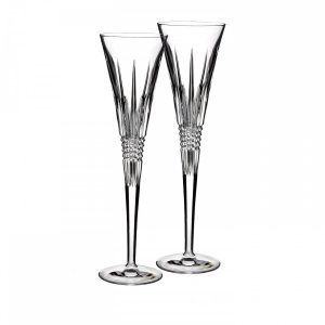 Lismore Diamond Toasting Flutes, Pair