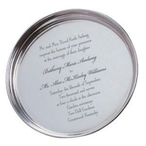 Engraved Wedding Invitation Tray