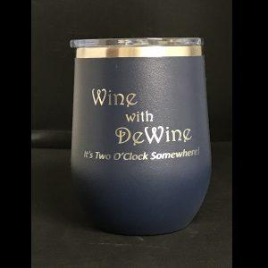 wine with dewine wine glass