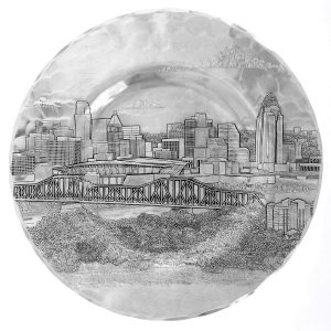 Cincinnati Skyline Well Plate