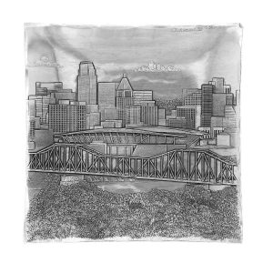 Cincinnati Skyline Hudson Square Tray