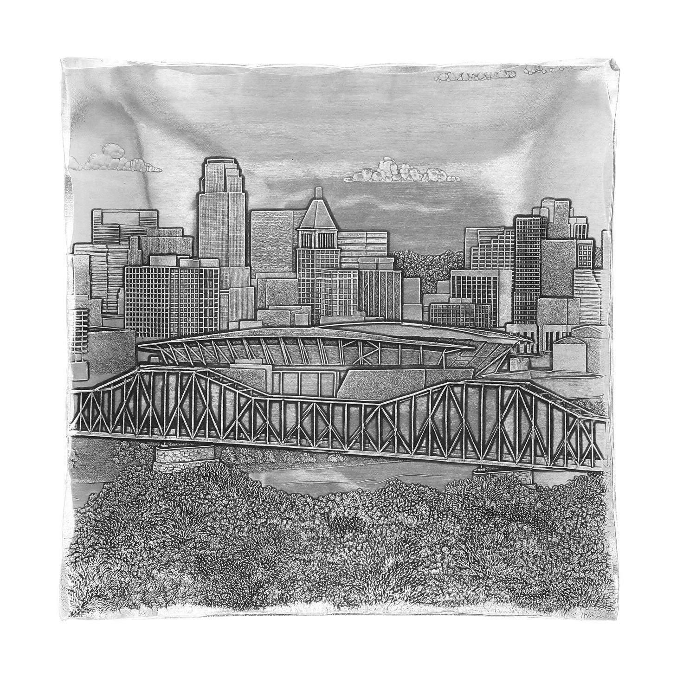 Cincinnati Skyline Hudson Square Tray