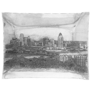 Cincinnati Skyline Rectangular Hudson Tray