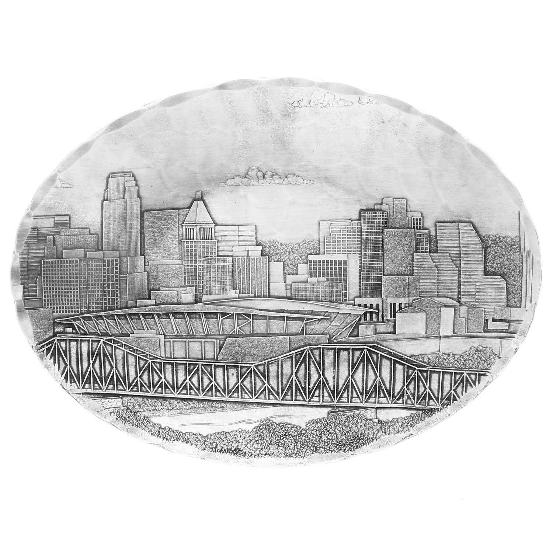 Cincinnati Skyline Oval Dish